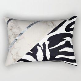 Zebra,marble texture design Rectangular Pillow