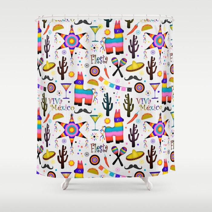 Fiesta Mexicana Shower Curtain