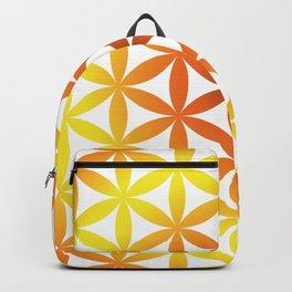 Orange Tree of life Yellow seed of life Backpack