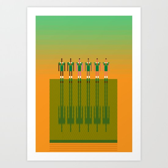 Aussie Rules  Art Print