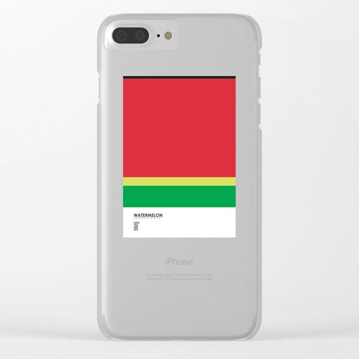 Pantone Fruit - Watermelon Clear iPhone Case