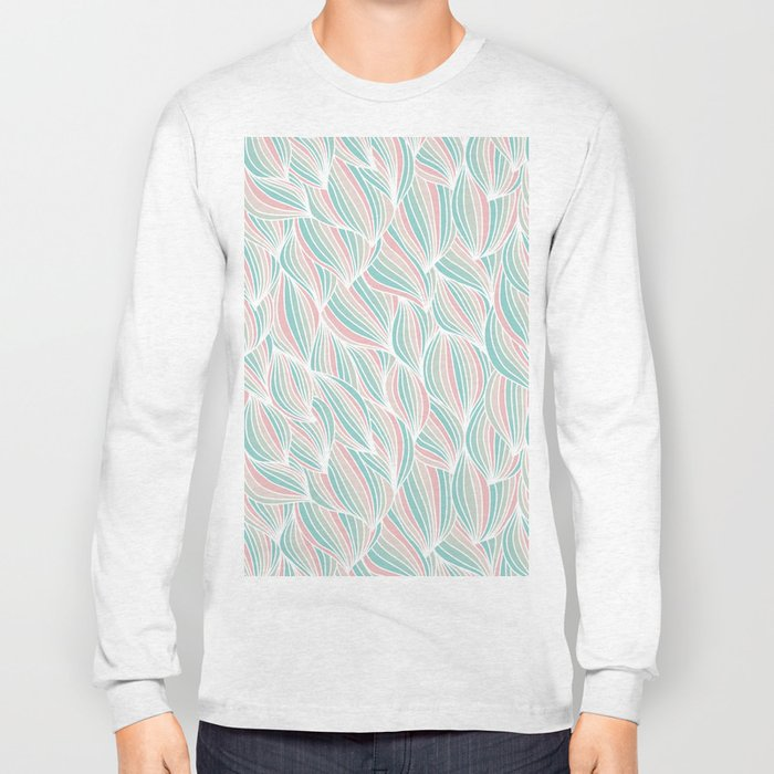 Cool Colorful Ocean Waves Long Sleeve T-shirt