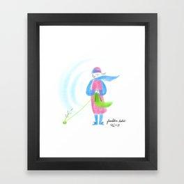 Spring Knitter Framed Art Print