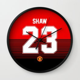 Luke Shaw - Manchester United Home 2018/19 Wall Clock