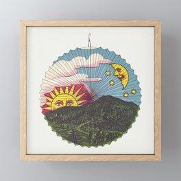Setting sun lantern  from Papierlaternen-Fabrik Riethmller makers catalog (Paper Lantern) (ca 1880) Framed Mini Art Print