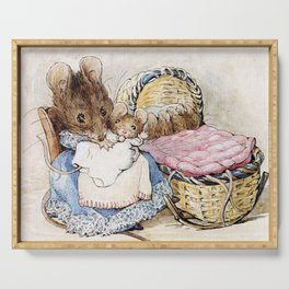 Mouse mother and babies Serving Tray