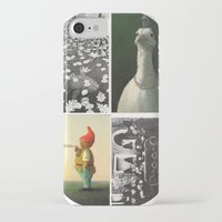 postcard iPhone & iPod Cases featuring Postcard Collage by wetravelasequals