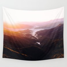 Morning Glory Mountain Landscape Wall Tapestry