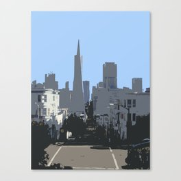 Pyramid from Telegraph Hill Canvas Print