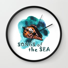 Songs of the sea Wall Clock