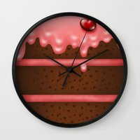 pie Wall Clocks featuring Pie by Rejdzy