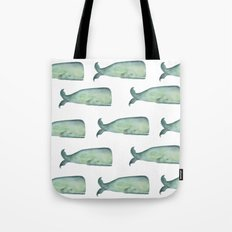 Friendly whale from the sea Tote Bag