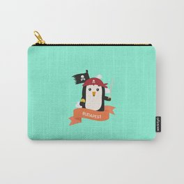 Pirate Pinguin from BUDAPEST T-Shirt for all Ages Carry-All Pouch