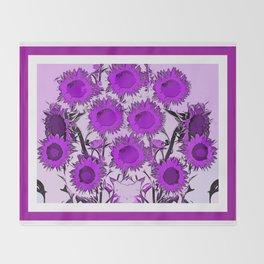 The Purple Sun Throw Blanket