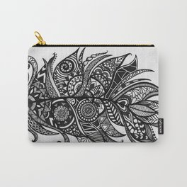 Zen Tangle Feather Carry-All Pouch