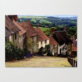 Gold Hill, Dorset Canvas Print