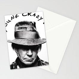 neil young crazy horse on tour dates 2021 karanganom white Stationery Cards