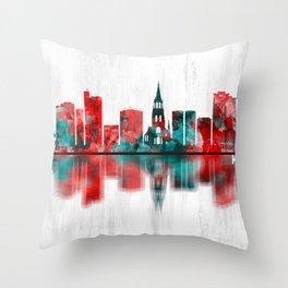 Katowice Poland Skyline Throw Pillow