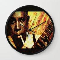 robert farkas Wall Clocks featuring Robert by Darla Designs
