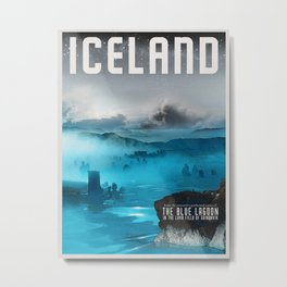 Iceland: The Blue Lagoon Metal Print