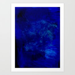 Blue Night- Abstract digital Art Art Print