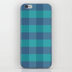 Pixel Plaid - Ice Sheet iPhone & iPod Skin