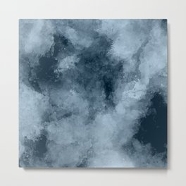 Cloudy Blue Texture Metal Print