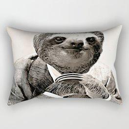 Gentleman Sloth in Smart Posture Rectangular Pillow