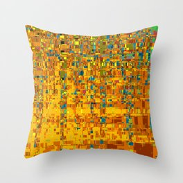 Abstract Klimt Throw Pillow