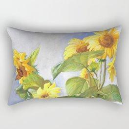 Sunflowers After The Rain Rectangular Pillow