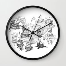Let's work together Wall Clock