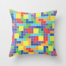 Tetris Blocks Throw Pillow