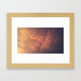 Golden fluff Framed Art Print