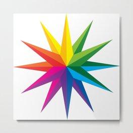 Rainbow Star Metal Print