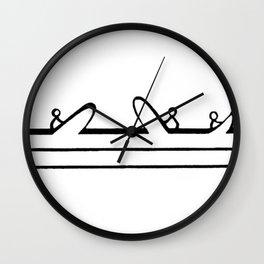 Line up Wall Clock