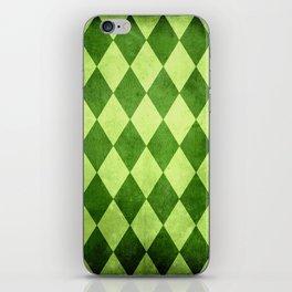 Green Harlequin Grunge iPhone Skin