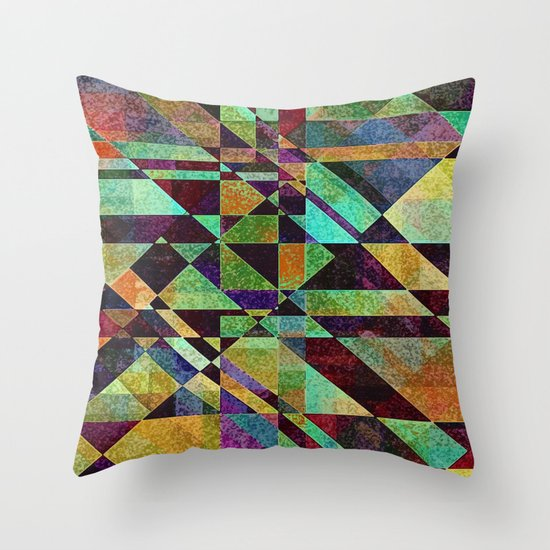 Fault Lines Throw Pillow