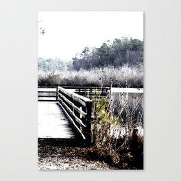 Winter Pier  Canvas Print