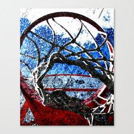 Basketball artwork swoosh vs 8 Canvas Print