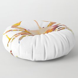 Water Crab Color Floor Pillow