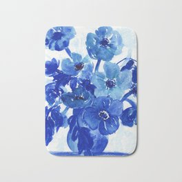 blue stillife Bath Mat
