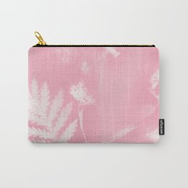 Pink weeds, fern & flowers Carry-All Pouch