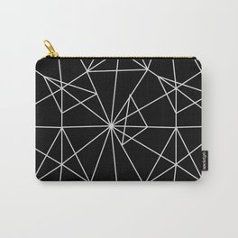 Abstract black white minimalist geometric pattern Carry-All Pouch