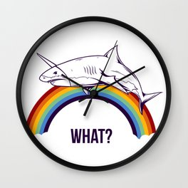 Shark - What? Wall Clock