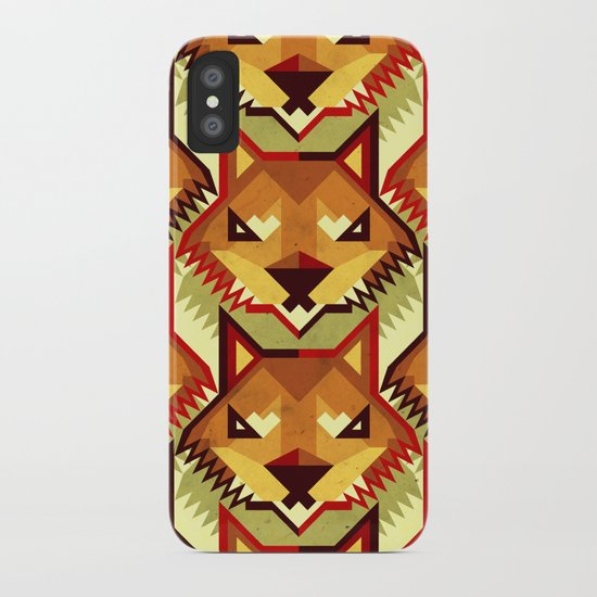 The Bold Wolf pattern iPhone Case