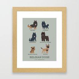 BELGIAN DOGS Framed Art Print
