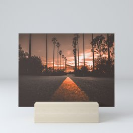 Road at Sunset Mini Art Print