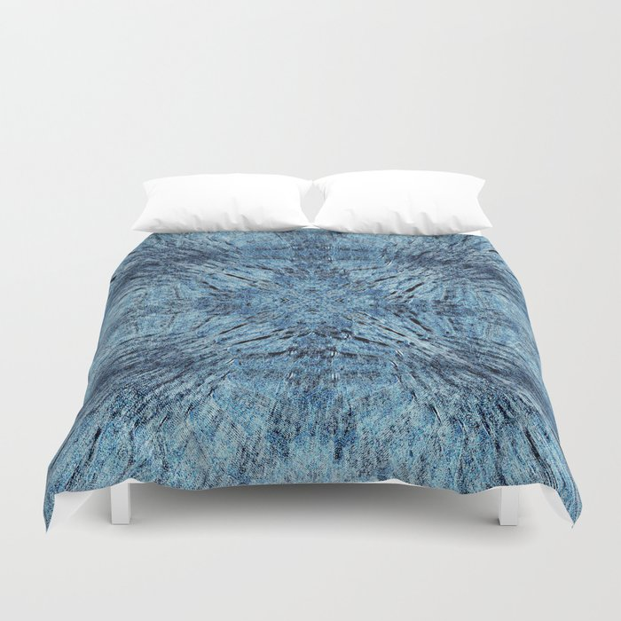 Spun Denim Mandala Duvet Cover