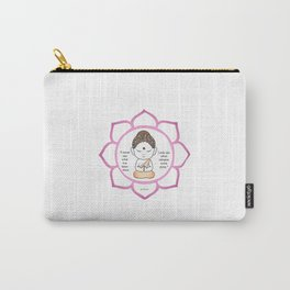 Cute little Buddha in a lotus flower Carry-All Pouch