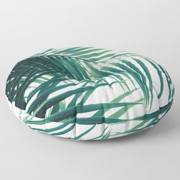 Palm Leaves Green Vibes #6 #tropical #decor #art #society6 Floor Pillow